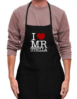 I Love Mr Utrilla Apron