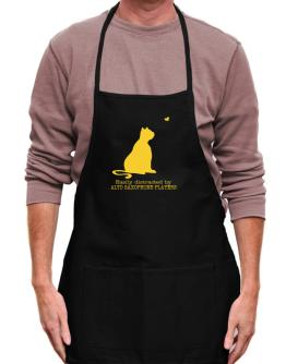 Easily Distracted By Alto Saxophone Players Apron