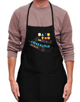 Have You Hugged An Abecedarian Today? Apron