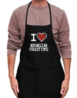 I Love Norwegian Forest Cats Apron