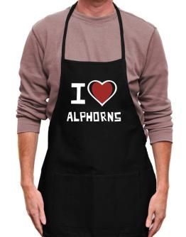 I Love Alphorns Apron
