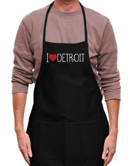 I love Detroit cool style Apron