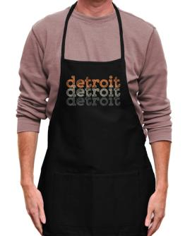 Detroit repeat retro Apron
