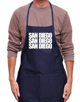 San Diego three words Apron