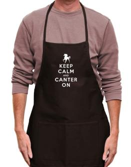 Mandil de Keep calm and canter on