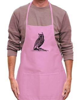 Great Horned Owl sketch Apron