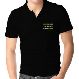 """"""" BORN TO do Aikido , FORCED TO WORK """" Polo Shirt"""
