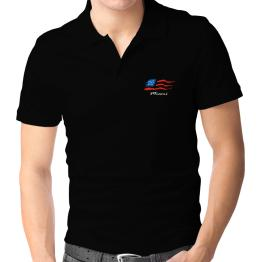 Miami - Us Flag Polo Shirt