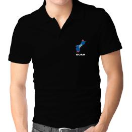 Polo Camisa de Guam - Country Map Color