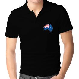 Australia - Country Map Color Simple Polo Shirt