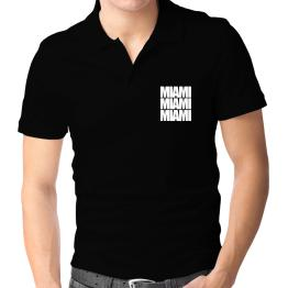 Miami three words Polo Shirt