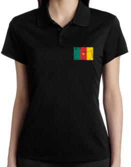 """ Cameroon - Vintage Flag "" Polo Shirt-Womens"