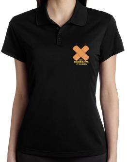 So Accommodating It Hurts Polo Shirt-Womens
