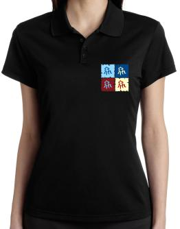 Wrestling - Pop Art Polo Shirt-Womens