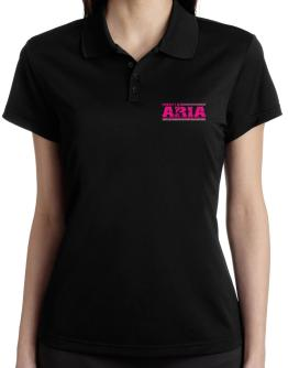 Property Of Aria - Vintage Polo Shirt-Womens