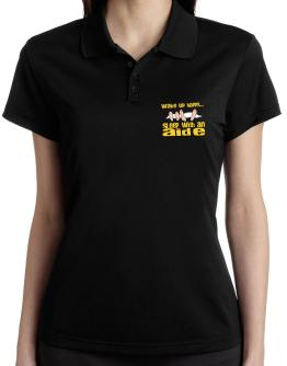 wake up happy .. sleep with a Aide Polo Shirt-Womens