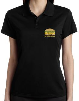 American Sign Language My Favorite Food Polo Shirt-Womens