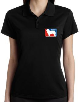Australian Shepherd Sports Logo Polo Shirt-Womens