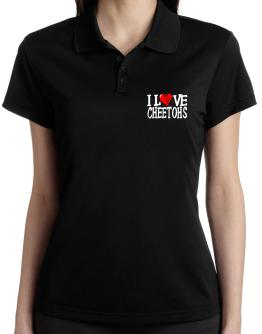 I Love Cheetohs - Scratched Heart Polo Shirt-Womens