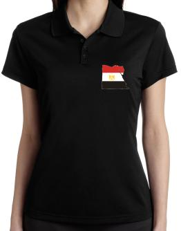 Egypt - Country Map Color Simple Polo Shirt-Womens