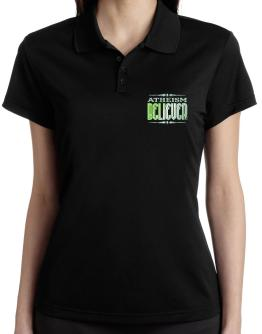 Atheism Believer Polo Shirt-Womens