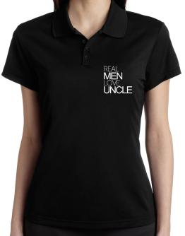 Real men love Auncle Polo Shirt-Womens