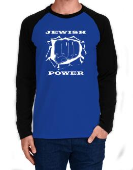 Jewish Power Long-sleeve Raglan T-Shirt