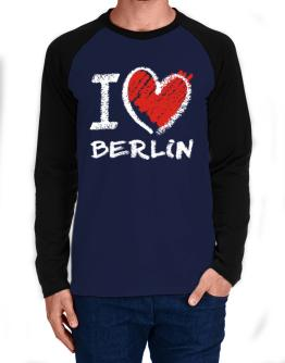 I love Berlin chalk style Long-sleeve Raglan T-Shirt