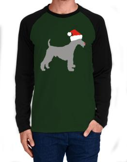Fox Terrier Wire christmas Long-sleeve Raglan T-Shirt