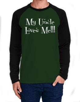My Auncle loves me! Long-sleeve Raglan T-Shirt
