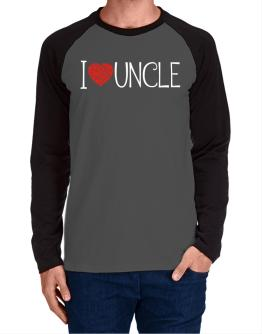 I love Auncle cool style Long-sleeve Raglan T-Shirt
