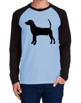 North Country Beagle silhouette Long-sleeve Raglan T-Shirt