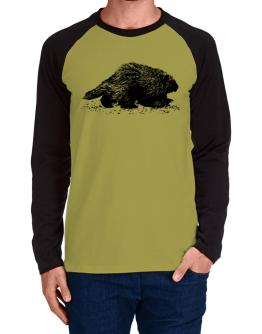 American Porcupine sketch Long-sleeve Raglan T-Shirt