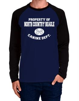 Property of North Country Beagle canine dept Long-sleeve Raglan T-Shirt