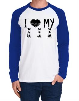 I love my Fox Terriers Long-sleeve Raglan T-Shirt