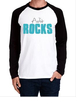 Adit Rocks Long-sleeve Raglan T-Shirt
