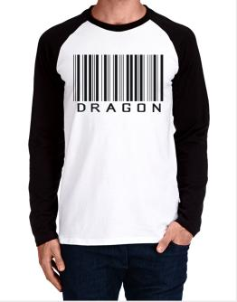 Dragon Barcode / Bar Code Long-sleeve Raglan T-Shirt