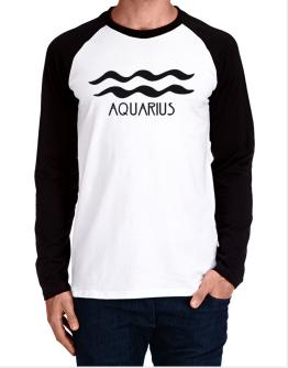 Aquarius - Symbol Long-sleeve Raglan T-Shirt