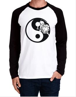 Yin Yang Leo Long-sleeve Raglan T-Shirt