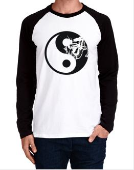 Yin Yang Dragon Long-sleeve Raglan T-Shirt