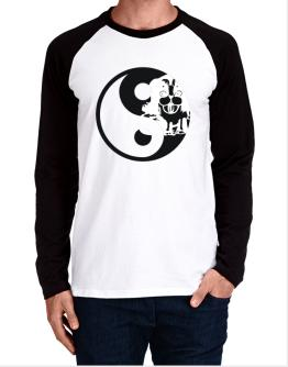 Yin Yang Dog Long-sleeve Raglan T-Shirt