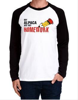 My Alpaca Ate My Homework Long-sleeve Raglan T-Shirt