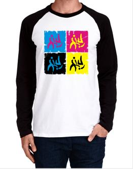 Aikido - Pop Art Long-sleeve Raglan T-Shirt