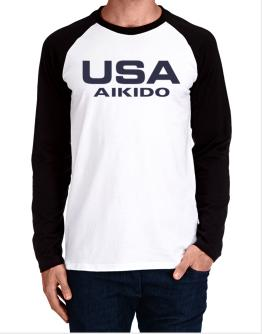 Usa Aikido / Athletic America Long-sleeve Raglan T-Shirt