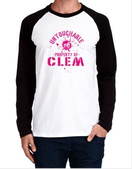 Untouchable : Property Of Clem Long-sleeve Raglan T-Shirt
