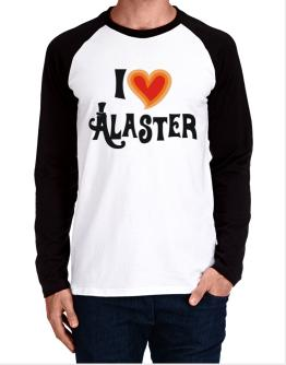 I Love Alaster Long-sleeve Raglan T-Shirt