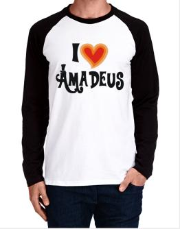 I Love Amadeus Long-sleeve Raglan T-Shirt