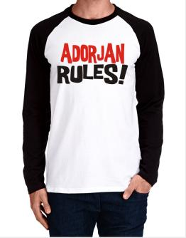 Adorjan Rules! Long-sleeve Raglan T-Shirt