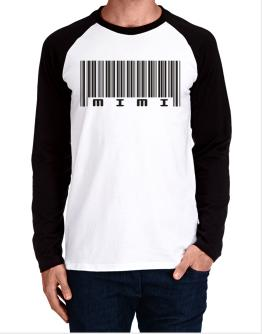 Mimi - Barcode Long-sleeve Raglan T-Shirt
