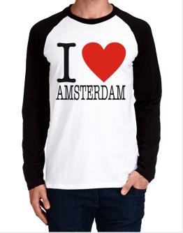 I Love Amsterdam Classic Long-sleeve Raglan T-Shirt